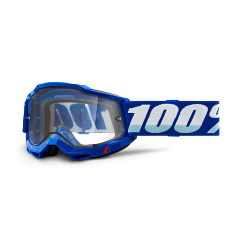 100 Percent ACCURI 2 Enduro Moto Goggle Blue - Clear Lens