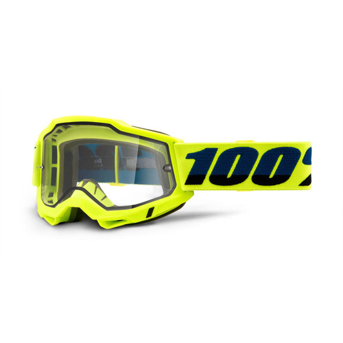 100 Percent ACCURI 2 Enduro Moto Goggle Yellow - Clear Lens