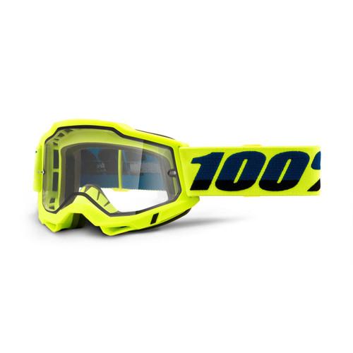 100 Percent ACCURI 2 Enduro Moto Goggle Yellow - Clear Lens