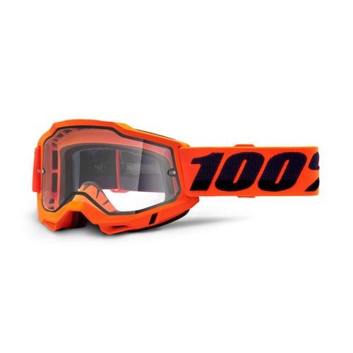 100 Percent ACCURI 2 Enduro Moto Goggle Orange - Clear Lens