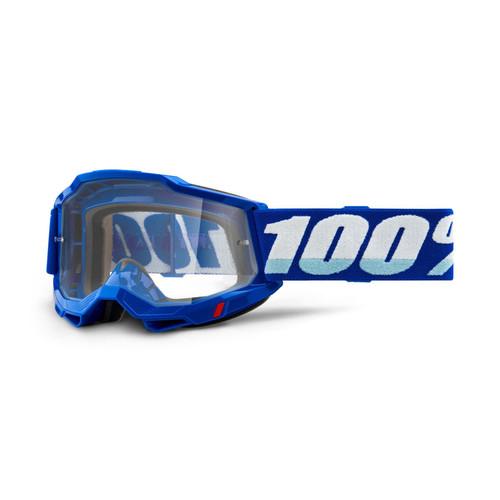 100 Percent ACCURI 2 OTG Over The Glasses Goggle Blue - Clear Lens