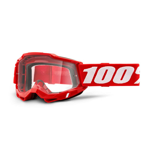 100 Percent ACCURI 2 OTG Over The Glasses Goggle Red - Clear Lens