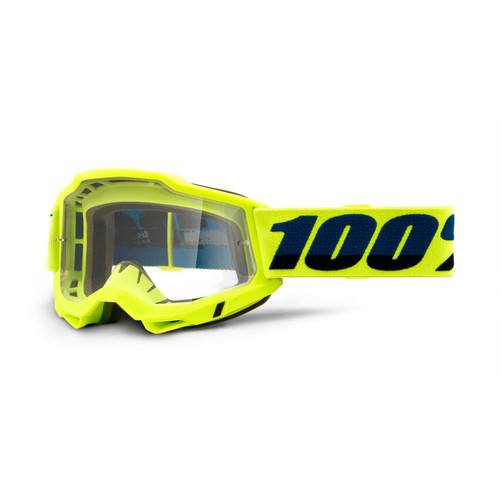 100 Percent ACCURI 2 OTG Over The Glasses Goggle Yellow - Clear Lens