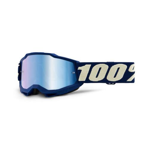 100 Percent ACCURI 2 Youth Goggle Deepmarine - Mirror Blue Lens