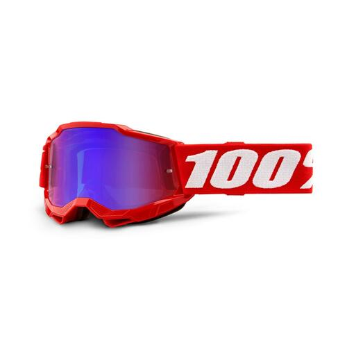 100 Percent ACCURI 2 Youth Goggle Red - Mirror Red/Blue Lens
