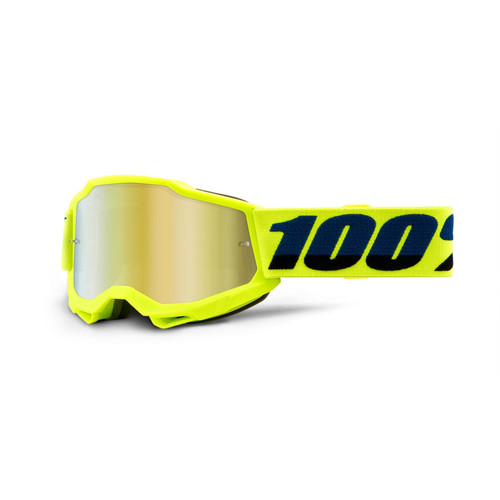 100 Percent ACCURI 2 Youth Goggle Yellow - Mirror Gold Lens