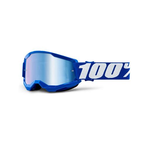 100 Percent STRATA 2 Youth Goggle Blue - Mirror Blue Lens