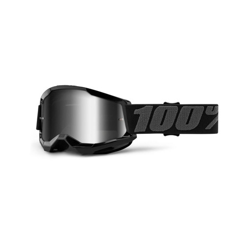 100 Percent STRATA 2 Youth Goggle Black - Mirror Silver Lens