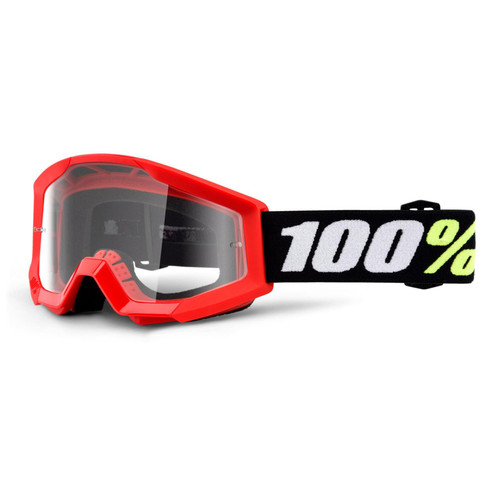 100 Percent STRATA MINI Goggle Red - Clear Lens