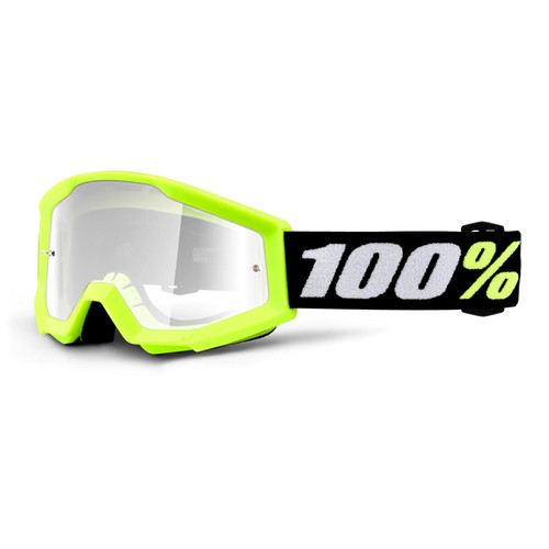 100 Percent STRATA MINI Goggle Yellow - Clear Lens