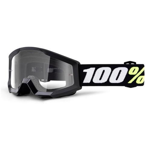100 Percent STRATA MINI Goggle Black - Clear Lens