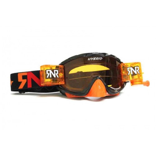 RIP N ROLL GH236 RNR HYBRID FULLY LOADED R/P GOGGLE LTD BLACK/ORANGE