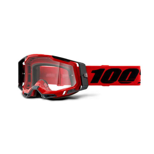 100 Percent RACECRAFT 2 Goggle Red - Clear Lens