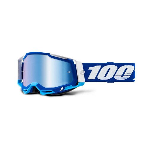 100 Percent RACECRAFT 2 Goggle Blue - Mirror Blue Lens