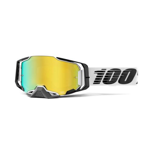 100 Percent ARMEGA Goggle Atmos - Mirror Gold Lens