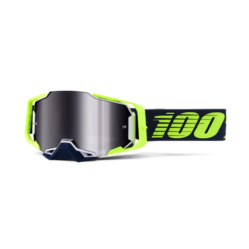 100 Percent ARMEGA Goggle Deker - Mirror Silver Lens