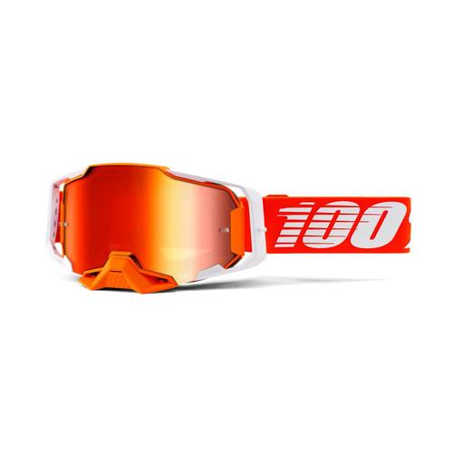 100 Percent ARMEGA Goggle Regal - Mirror Red Lens