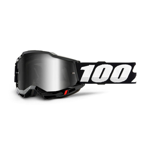 100 Percent ACCURI 2 Goggle Black - Mirror Silver Lens