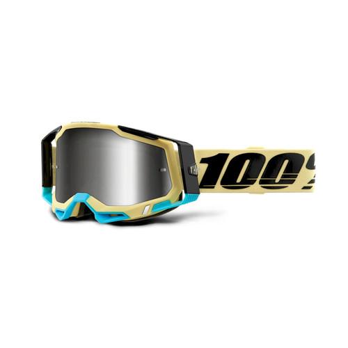 100% RACECRAFT 2 Goggle Airblast - Mirror Silver Lens