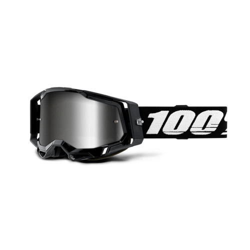 100% RACECRAFT 2 Goggle Black - Mirror Silver Lens
