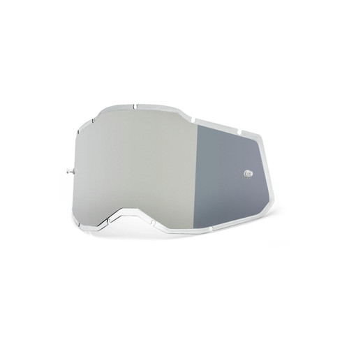 100 Percent RC2/AC2/ST2 Replacement Lens - Injected Silver