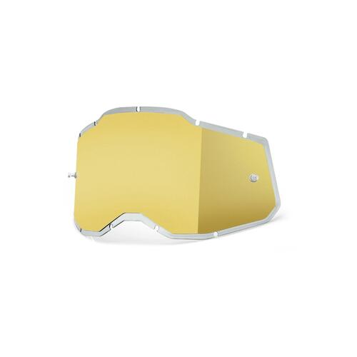 100 Percent RC2/AC2/ST2 Replacement Lens - Injected Mirror Gold