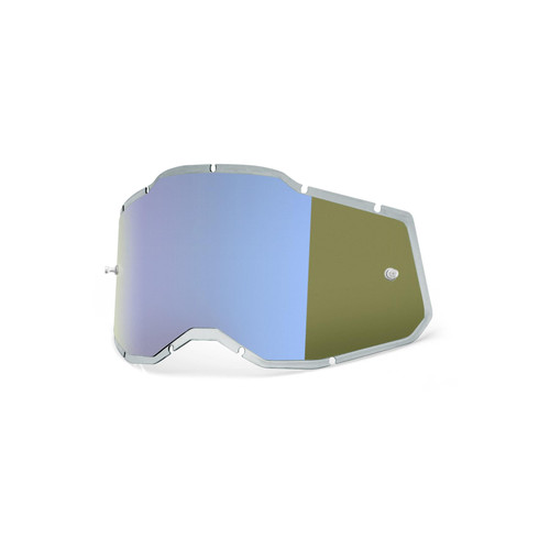 100 Percent RC2/AC2/ST2 Replacement Lens - Injected Mirror Blue