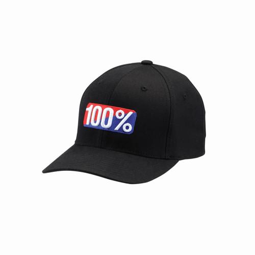 100 Percent O.G. X-FIT Flexfit Hat Black SM/MD