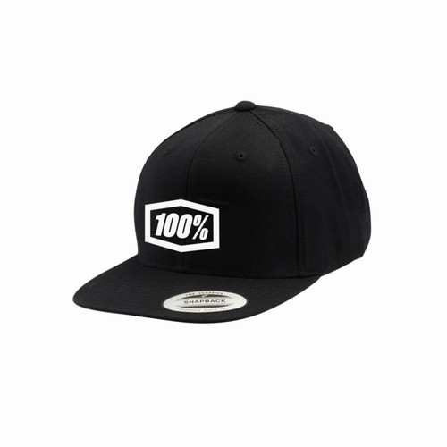 100 Percent ESSENTIAL Snapback Hat Black Youth