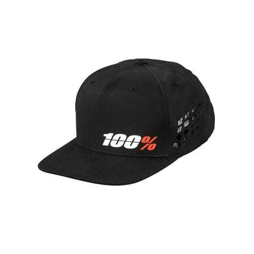 100 Percent OZONE Snapback Hat Black