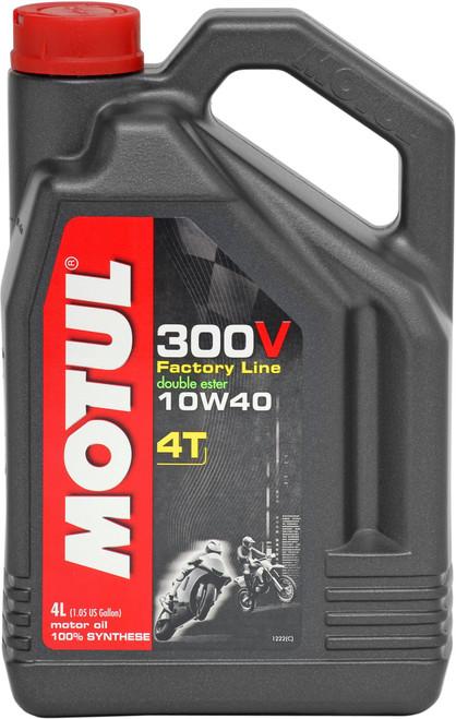 Motul Factory Line 300V 10W40 4T Oil 4 Litres