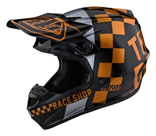 TLD 2021 SE4 Poluacrylite MX Helmet Checker Black/Gold