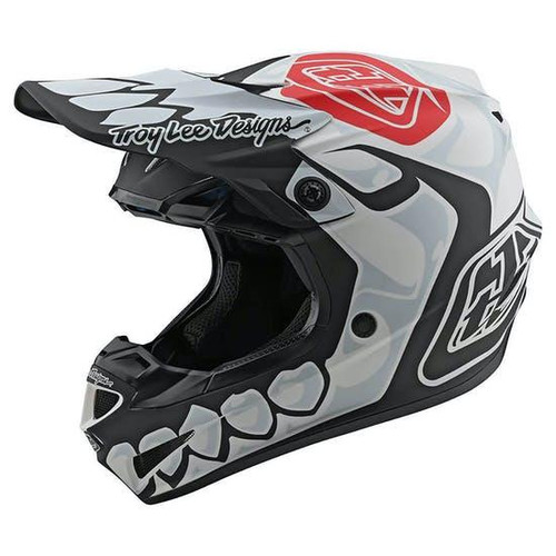 TLD MX Helmet 2020 SE4 Polyacrylite Skully White