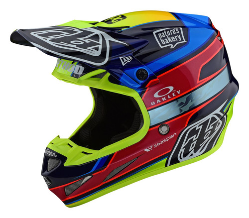 TLD 2021 SE4 Carbon MX Helmet Speed Team Blue/Yellow