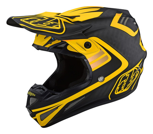 TLD 2021 SE4 Carbon MX Helmet Flash Black/Yellow