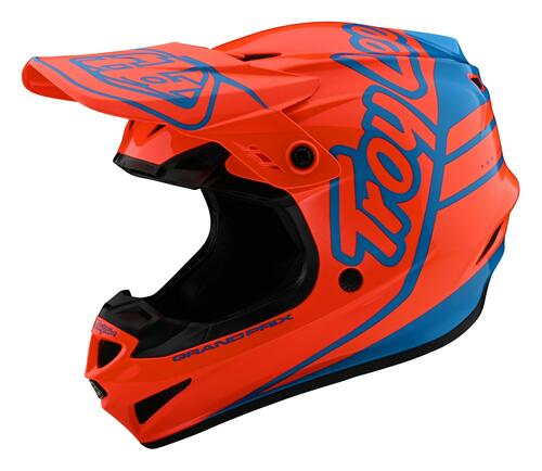 TLD 2021 Youth GP MX Helmet Silhouette Orange/Cyan