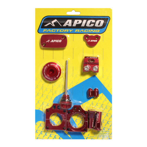APICO YCPK106 FACTORY BLING PACK HONDA CRF450R 17-19,  CRF450RX 17-19 RED
