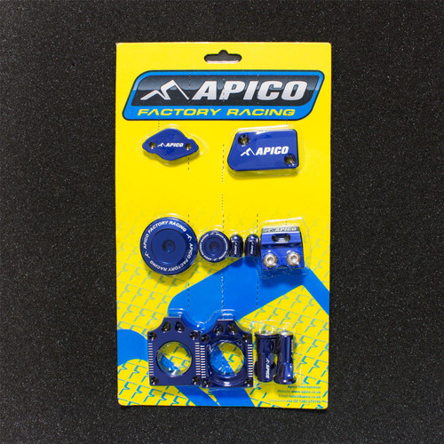 APICO YCPK402 FACTORY BLING PACK YAMAHA YZ250F 09-13 BLUE