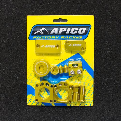 APICO YCPK201 GOLD FACTORY BLING PACK KAWASAKI KX250F 11-18,  KX450F 09-18 GOLD