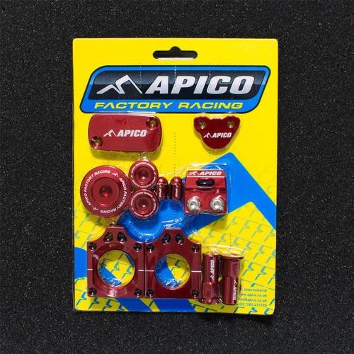 APICO YCPK101 FACTORY BLING PACK HONDA CRF250R 04-09, CRF250X 04-18, CRF450R 04-08 RED (R)