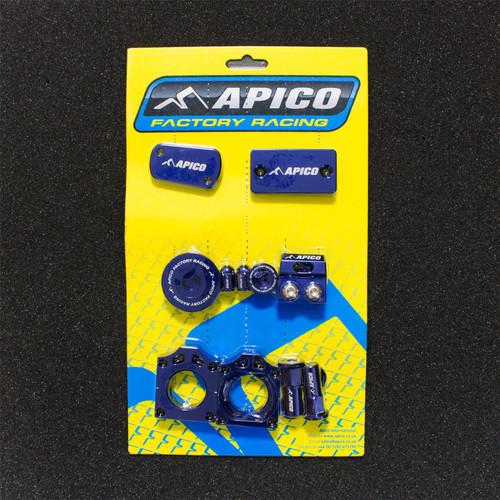APICO YCPK201 FACTORY BLING PACK KAWASAKI KX250F 11-18,  KX450F 09-18 BLUE