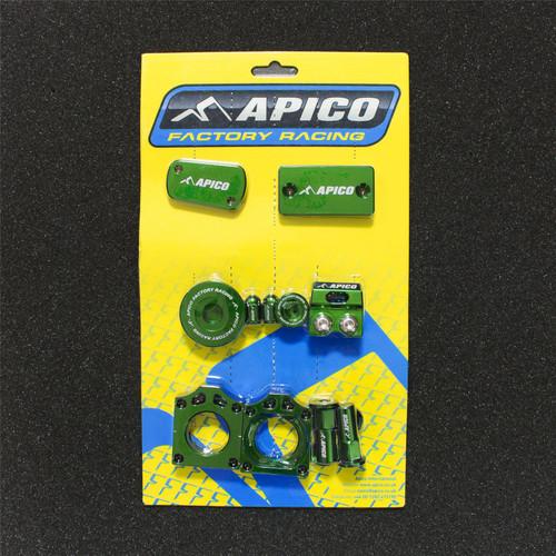 APICO YCPK201 GREEN FACTORY BLING PACK KAWASAKI KX250F 11-18,  KX450F 09-18 GREEN