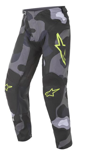 Alpinestars 2021 Racer Tactical MX Pant Grey Camo Yellow Fluo
