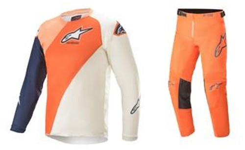 Alpinestars 2021 Youth Racer MX Gear Blaze Orange/Dark Blue