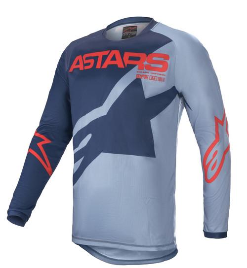 Alpinestars Youth 2021 Racer Braap MX Jersey Dark Blue Powder/Blue Bright Red