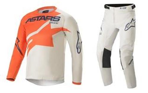 Alpinestars 2021 Youth Racer MX Gear Braap Orange/Grey/Blue
