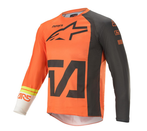 Alpinestars Youth 2021 Racer Compass MX Jersye Orange Anthracite/Off White