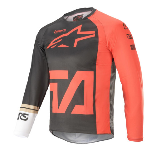 Alpinestars Youth 2021 Racer Compass MX Jersey Anthracite Red/Fluo White