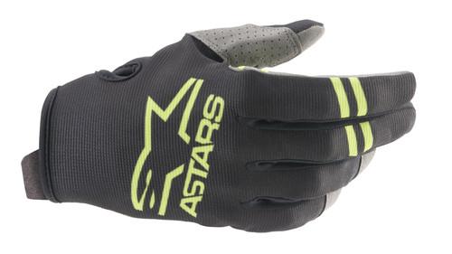 Alpinestars 2021 Radar MX Gloves Black/Green Fluo