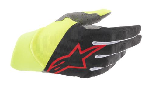 Alpinestars 2021 Dune MX Gloves Black/Yellow Fluo/Bright Red
